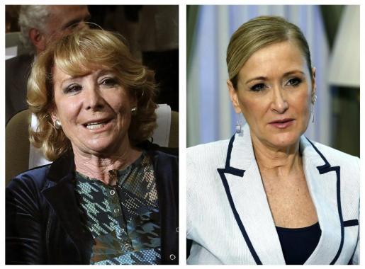 Imágenes de archivo de Esperanza Aguirre y Cristina Cifuentes, candidatas a la Alcaldía de Madrid y a la Presidencia de esta comunidad autónoma, respectivamente, después de que el Comité Electoral Nacional del PP aprobase su designación.