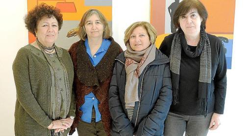 Isabel Vergara, Dolors Pérez, Maria Teresa Redón y Victoria Mercader.