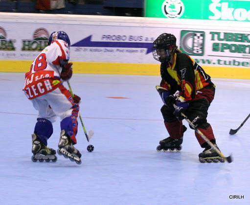 Equipo de Epaña de Hockey sobre patines en línea.