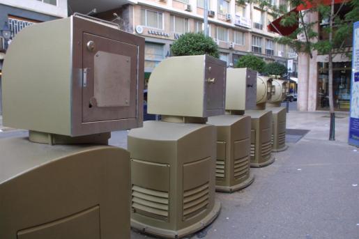 Máquinas de recogida neumática de basura.