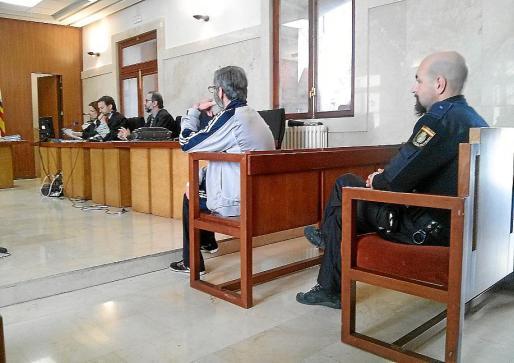 El acusado, durante el juicio en la Audiencia Provincial.