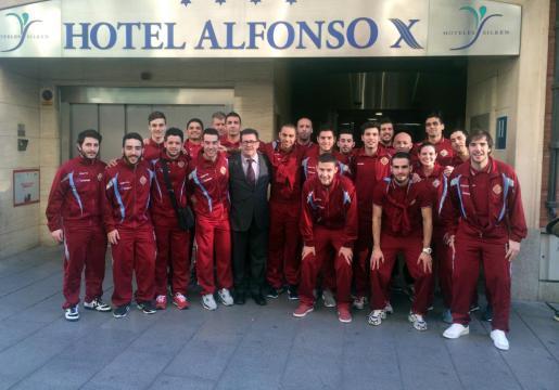La plantilla del Palma Futsal ya está en Ciudad Real donde este viernes se enfrentará al Magna Navarra en los cuartos de final de la Copa de España de futbol sala.