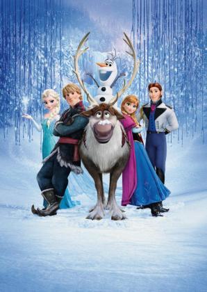 Imagen del cartel de la película Frozen.