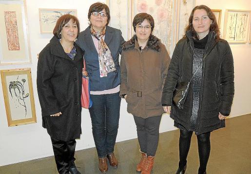 Antònia Siquier, Aina Aguiló, Soledad Cladera y Anna Vallespir.