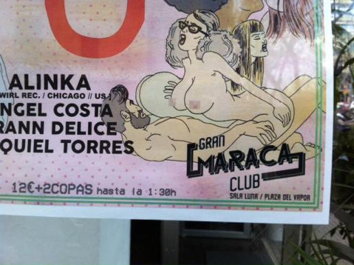 El cartel que ha provocado la denuncia del IPFB de la polémica.