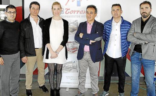 Bernardo Albertí, Javier Torrens, Eva Pomar, de Projecte Home; Pep Torrens, Gabriel Ramón y Andreu Miró.