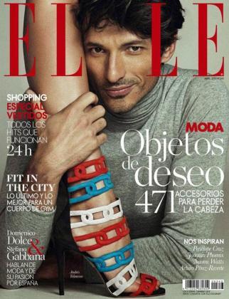 Andrés Velencoso, en la portada de Elle.