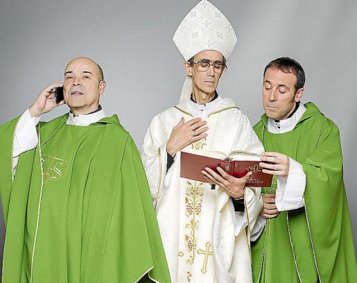 Antonio Resines, César Sarachu y Antonio Molero, en la nueva serie de Telecinco.