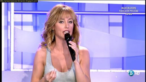 Emma García, la presentadora del programa Mujeres y Hombres y viceversa.