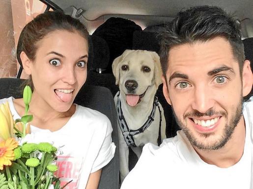 Ana Fernández y su pareja Santi Trancho, el cámara fallecido.