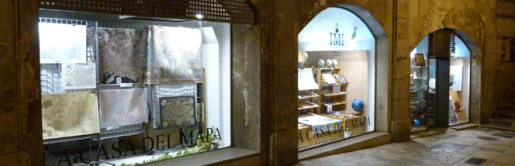 Escaparete de la Casa del Mapa de Palma de Mallorca, situada en la calle Santo Domingo de la capital balear.