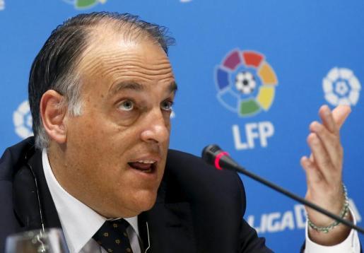 Javier Tebas, el presidente de la Liga de Fútbol Profesional (LFP).