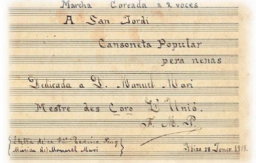 La «cansoneta popular para nenas» 'Himno a Sant Jordi' de Marí Seguí.