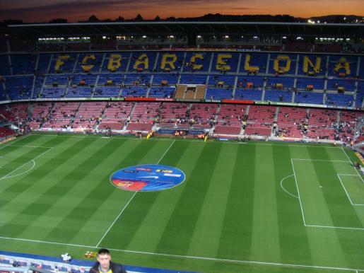 Vista general del Camp Nou. El estadio del FC Barcelona ha sido elegido para albergar la final de la Copa del Rey que enfrentará al conjunto blaugrana con el Athletic Club de Bilbao.