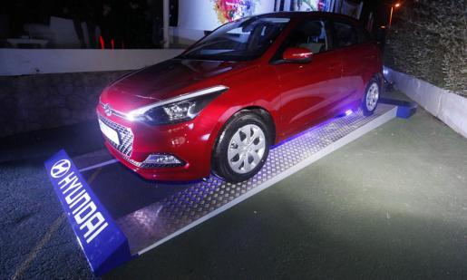 Una imagen del Hyundai i20 expuesto durante la ceremonia de presentación. Foto: DANI ESPINOSA