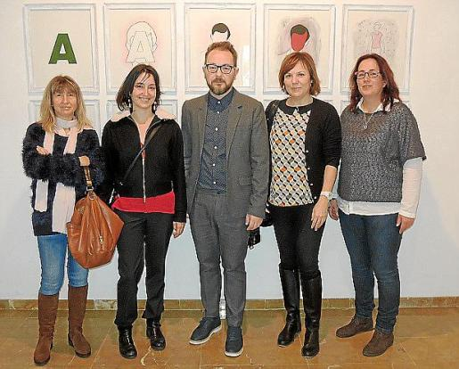Lola Carmona, Beatriz Cascante, David Campaner, Maria Antònia Valdivielso y Maria Teresa Canyellas.
