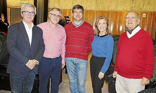 Llorenç Julià, Tomeu Márquez, Jaume Ribas, Teresa Martorell y Jaume Alorda.