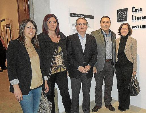 Carme Castells, Caterina Vallés, Joan Rotger, Jeroni Salom y Catalina Sureda.