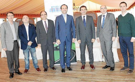Salvador Servera, Juan Teruel, Toni Bauzá, José Ramón Bauzá, Biel Company, Juan Salvador y Llorenç Galmés.