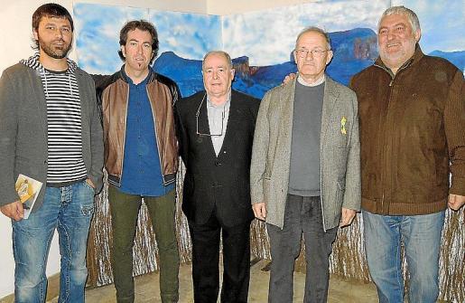 Tomeu Coll, Pere Joan Martorell, Antoni Santandreu, Joan Escanellas y Bernat Coll.