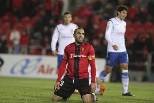 Imagen del centrocampista en el partido de liga entre el Real Mallorca y el Real Zaragoza.