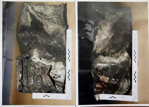 Dos imágenes de la caja negra del avión siniestrado.