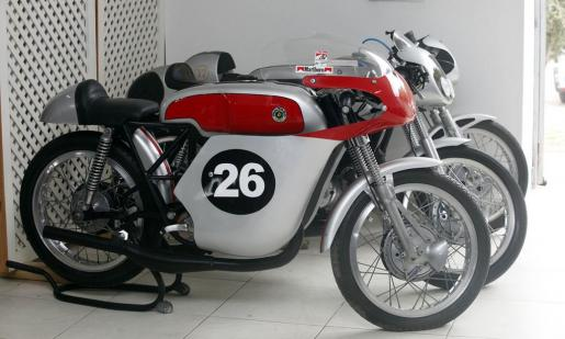 Los aficionados al mundo de las motos podrán ver algunas de las motos de campo de fabricación española que reinaron en los circuitos del mundo en la década de los 70. Foto: DANIEL ESPINOSA