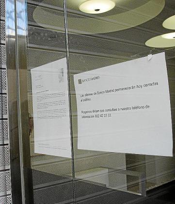 La oficina de Banco Madrid en Palma cerró el 18 de marzo para evitar la salida de depósitos.