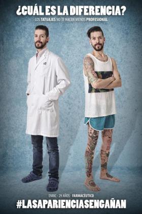 Este proyecto nace con la idea de concienciar que los tatuajes no te hacen menos profesional.