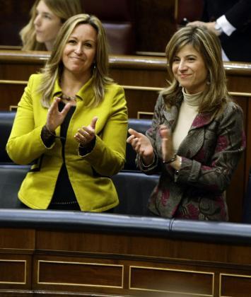 Trinidad Jiménez y bibiana Aído en el Congreso de los Diputados