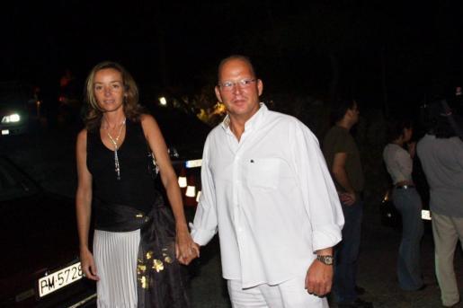 Kardam de Bulgaria y Miriam Ungríam, en Mallorca durante el verano de 2002.