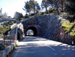 Un punto de la carretera Andratx-Estellencs donde se llevan a cabo los trabajos.