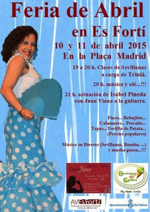 Cartel de la Feria de Abril de Es Fortí.