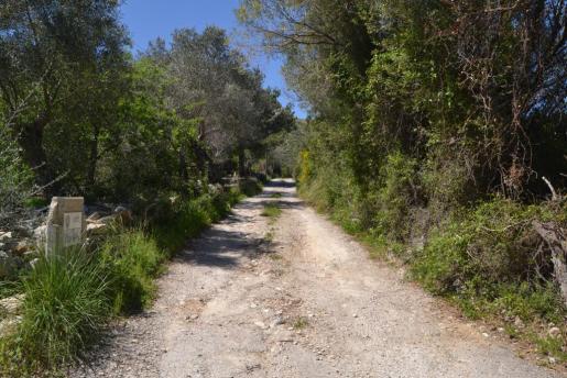 Vista del Camí de Can Galió, uno de los 200 caminos y carreteras de titularidad municipal que existen en el municipio de Capdera.