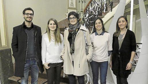 Joan Pizà, Ángela Peris, María Morado, Antònia Maria Miró, Maria Angels Castanyer.