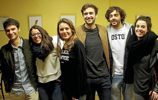 José Palma, Cova Muñoz, Estefanía Perelló, Carlos Quintana, Mateo Sabater y Amanda Albertí.