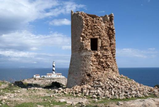 Imegen del estado de una de las torres de defensa de Calvià.