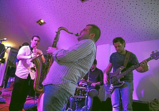 La formación de jazz Saxophobia Funk Project, en concierto.
