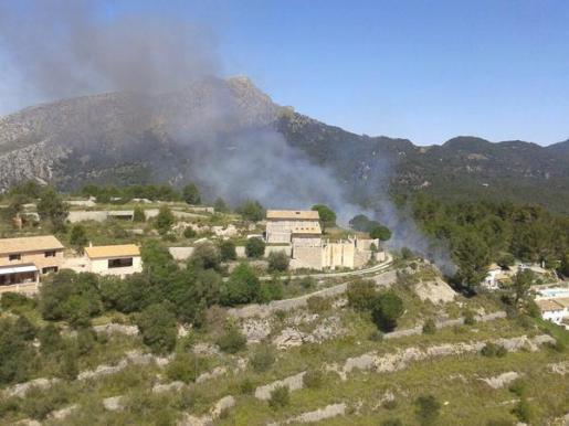 Imagen de la zona donde se ha producido el incendio.