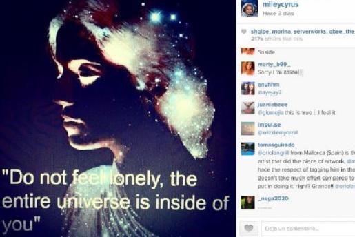 La imagen del artista mallorquín al lado de los comentarios que ha generado.