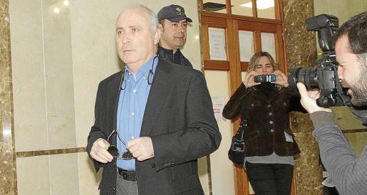 Imagen de Fernando Areal en los juzgados.