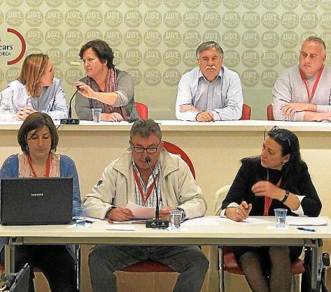 Imagen de un momento de la reunión del comité extraordinario celebrado este jueves en UGT Balears.