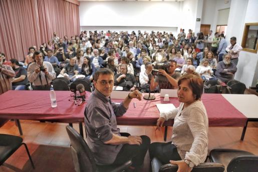 Juan Carlos Monedero, uno de los líderes de Podemos, durante una conferencia organizada por la UIB.