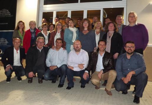 Los candidatos en Pollença.