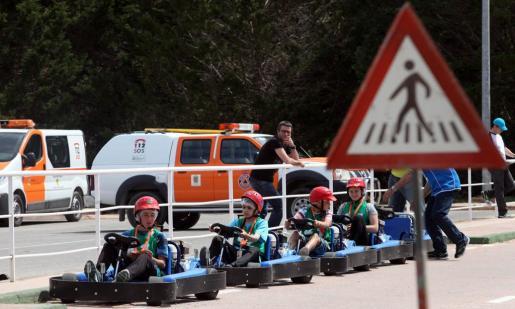 Momento de las pruebas celebradas ayer en Santa Gertrudis. Foto: DANI ESPINOSA