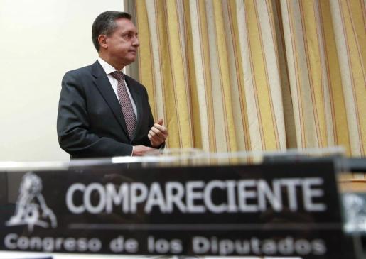 El director general de la Agencia Tributaria, Santiago Menéndez, durante su comparencia en el Congreso.