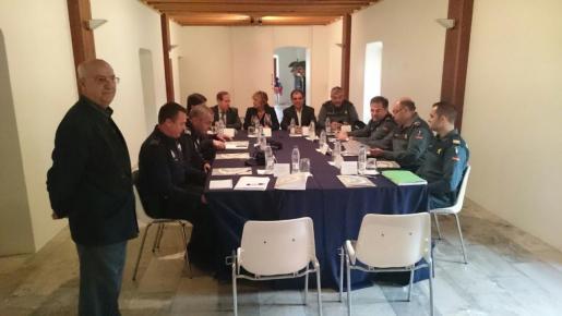 Momento de la reunión de la unta de seguridad de Llucmajor