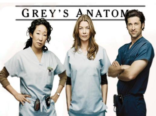 Patrick Dempsey junto a dos de la protagonistas de 'Anatomía de Grey'