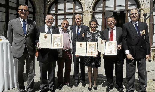 Rafael Romero, Carmelo Sánchez, Llorenç Abraham, Juan Caridad, Elvira Álvarez, Miguel Ángel Ricci Valero y Antonio Llompart.