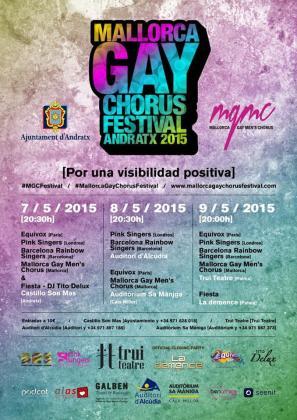El cartel del I Mallorca Gay Chorus Festival tiene vocación internacional.